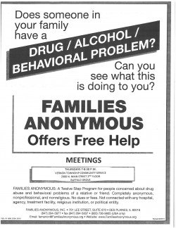Families Anonymous BG Meeting