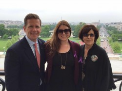 Congressman Bob Dold, and cofounders, Jody Daitchman and Chelsea Laliberte in Washington DC the day of the House vote for Lali's Law (it passed 414 to 5). It is hopeful to become a part of the Comprehensive Addiction & Recovery Act (CARA).